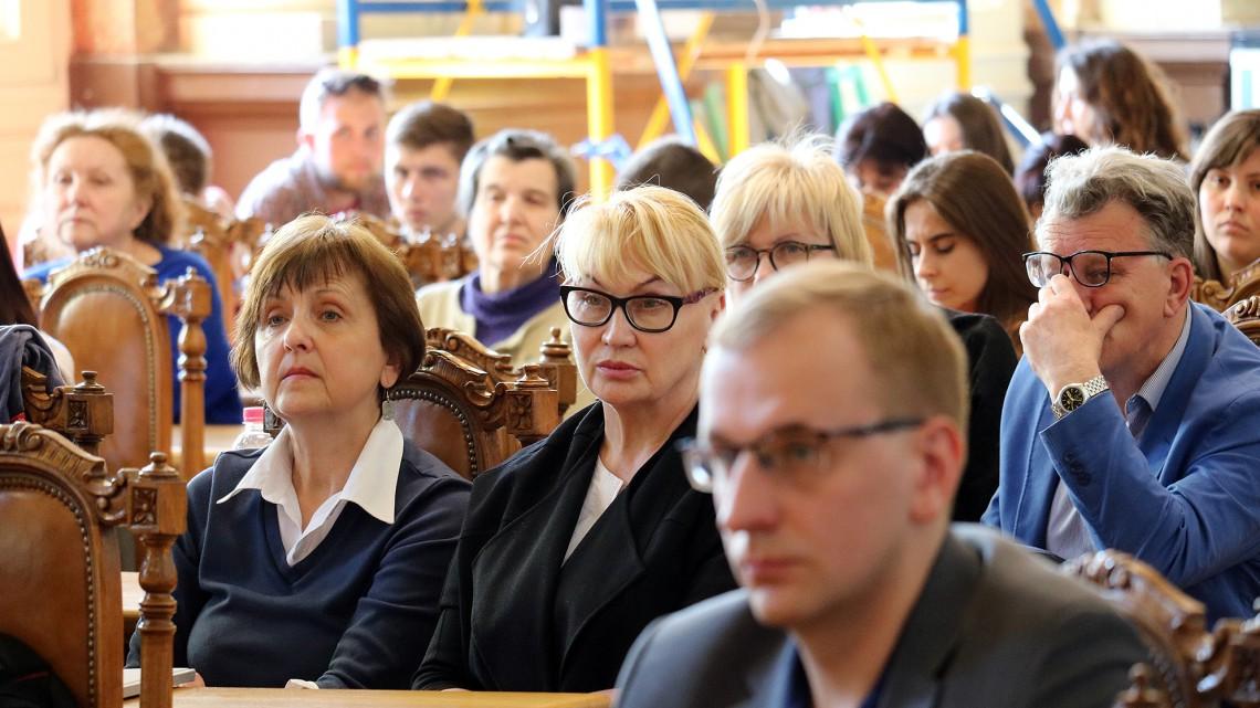 Андрій Яців у актовій залі Львівської політехніки