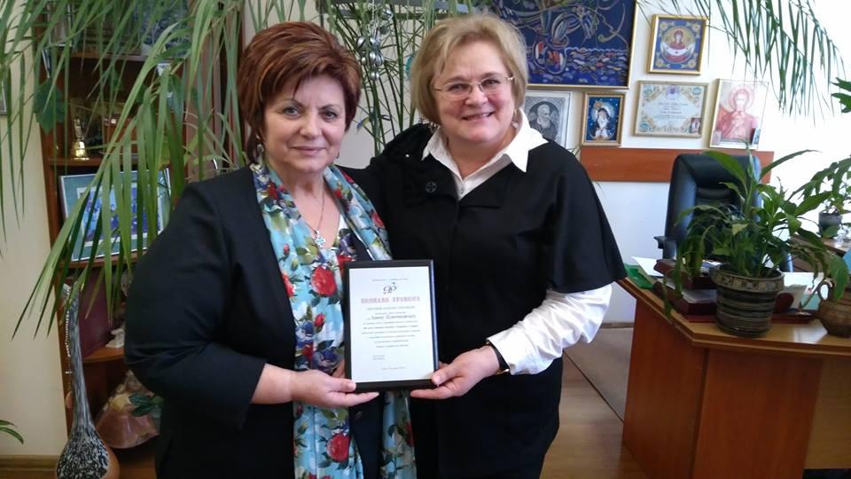 Анна Кісіль та Ірина Ключковська у МІОКу