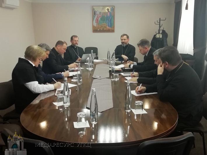 Ірина Ключковська на першій робочій зустрічі у рамках підготовки до VII сесії Патріаршого Собору