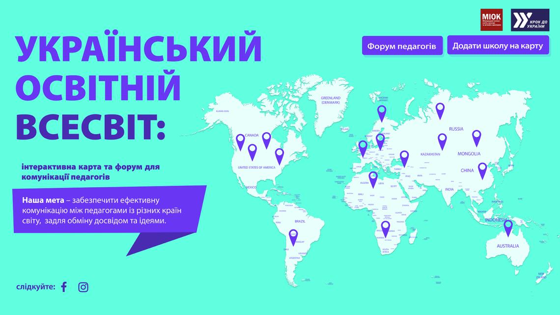 """візуалізація сайту """"Український освітній всесвіт"""""""