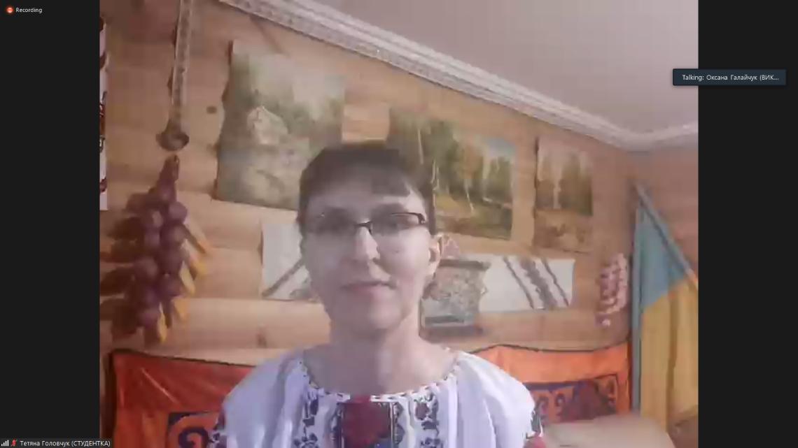 Тетяна Головчук, студентка школи «Крок до України» із Німеччини