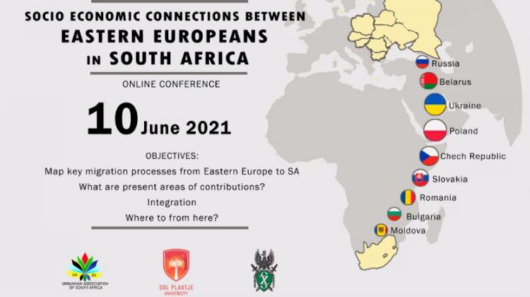 Постер конференції Socio-Economic Connections between Eastern Europeans in South Africa